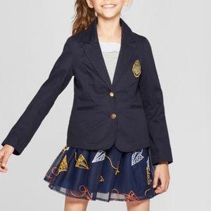 Girl's Harry Potter Crest Navy Blue Blazer